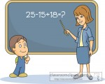 Student solving Math Problem with Teacher